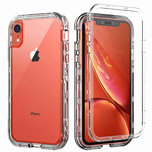 SKYLMW Case for iPhone XR,Shockproof Three Layer Protection Hard Plastic & Soft TPU Sturdy Armor Protective High Impact Resistant Cover for iPhone XR 2018(6.1 inch) for - Iphone Plastic Hard