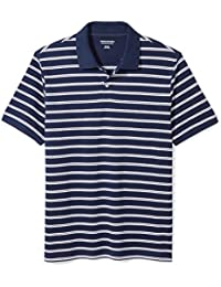 Men's Slim-Fit Striped Cotton Pique Polo Shirt