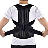 Back Posture Corrector, HailiCare Full Back Brace Shoulder Posture Correction for Upper Lower Back Support, Brace to Relieve Slouch, B Slouch, Back Pain, Thoracic Kyphosis (34''- 42'')