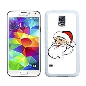 S5 Case,Lovely Christmas Santa Grandpa Samsung Galaxy S5 Phone Case,S5 I9600 TPU Cover Case