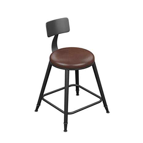 Swell Amazon Com Luhen Barstool Vintage Style Round Wrought Iron Inzonedesignstudio Interior Chair Design Inzonedesignstudiocom