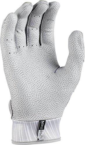 Mens Nike Mvp Pro Baseball Glove Gray and Black Size Small