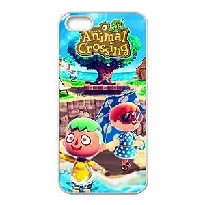 iPhone 5 5s funda Blanco [KHOAOKOFK4395] CUSTOM Animal Crossing TEMA iPhone 5 5s funda