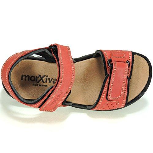 MORXIVA - Sandalia California Con Velcro - Modelo 7030 Rojo