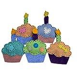 Catnip Cat Toy - Birthday Cupcake - Organic Catnip/Wool Felt