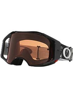 751825e68c Oakley Airbrake MX Jet Black wPrizmMX Bronze Unisex-Adult Goggles (Black