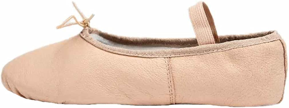 Hip-gift Genuine Leather Ballet Dance Slippers Shoes Full Sole