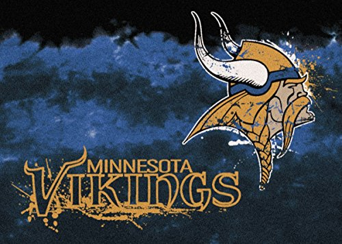 Minnesota Vikings NFL Team Fade Area Rug by Milliken, 3'10
