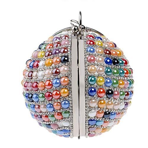 mujeres Bolso moldeado de forma de la bolso del la tarde la la bola redondo del la tarde boda la bolso de bola la de de boda de de Colorful Color Blue las del de qanraw7A5