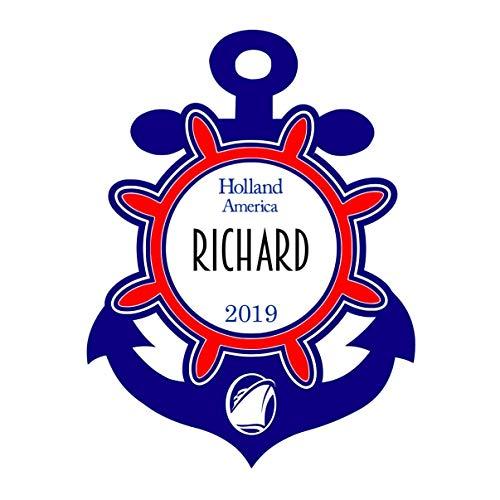 Princess Anchor - Cruise Line Door Magnet | Royal Caribbean Magnet | Carnival Cruise | Holland America | Norwegian Cruise Line | Princess Cruises Magnets | Anchor Steering Wheel Cruise Door Magnet