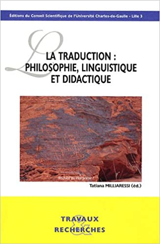 Download La traduction : philosophie, linguistique et didactique pdf, epub
