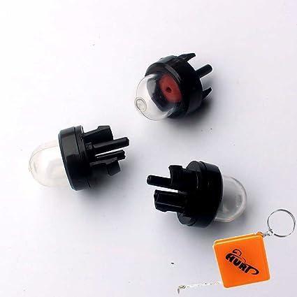HURI - 3 x bombas de arranque para carburador Bulbs de motosierra ...