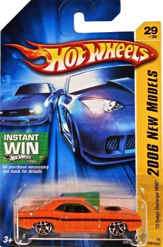 2006 First Editions -#29 1970 Dodge Challenger Hemi Orange Y5 Wheels #2006-29 Collectible Collector Car Mattel Hot Wheels 1:64 Scale