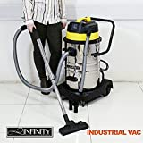 WET AND DRY VACUUM VAC CLEANER INDUSTRIAL 50LTR 1000W STAINLESS STEEL