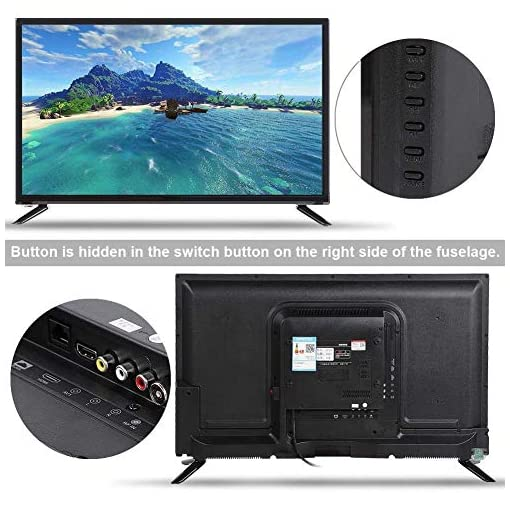 Mavis Laven Ultra HD Smart LCD TV 32-Inch, Multi-Functional Smart TV 2K Online Edition Televison 220V Black(UK)