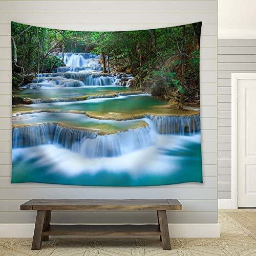 Cascading Waterfalls in Tropical Rainforest