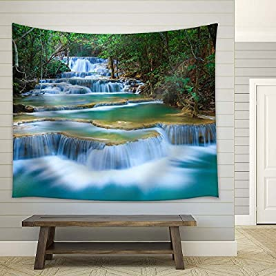 Lovely Portrait, Created By a Professional Artist, Cascading Waterfalls in Tropical Rainforest