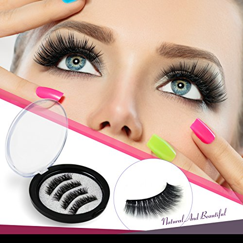 Magnetic Eyelashes Dual Magnet Glue-free 3D Reusable Full Size Premium Quality Natural Look Best False Lashes(4 - Best Who It Wear