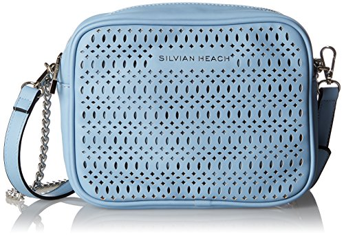 Silvian Heach - Shoulder Bag Meano, Bolsos Bandolera Mujer, Turchese (blue Light), 9.50x18x23.50 Cm (w X H L)