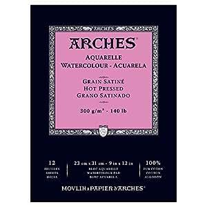 Arches Watercolor Pad Hot Press 9X12