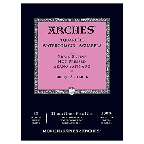 Arches Watercolor Pad Hot Press 9X12
