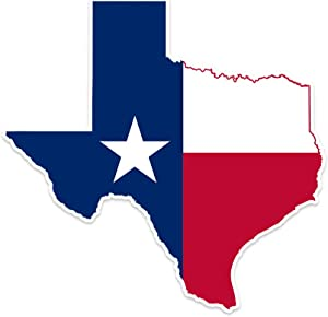 "Bargain Max Decals - Texas State Map Flag -Sticker Decal Notebook Car Laptop 4"" x 4"" (Color)"