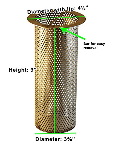 4'' Commercial Floor Drain Strainer, Perforated Stainless Steel, 9'' tall by Drain-Net (Image #1)