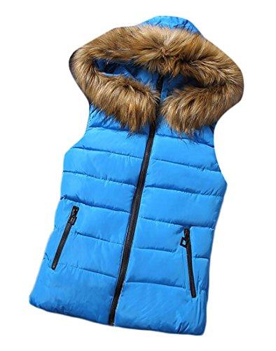 Zip Frontale Colore Donne Blu Cappuccio Maglia Puro Di Cotone Con Grmo Invernale Della wXUnHqnT
