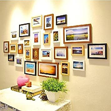 Four Color Mixed Photo Frame Collection Set of 25: Amazon.co.uk ...