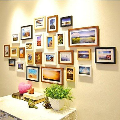 a2438f06cb Four Color Mixed Photo Frame Collection Set of 25  Amazon.co.uk  Kitchen    Home