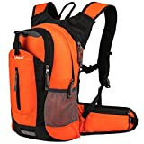 Gelindo Insulated Hydration Backpack Pack with 2.5L Bpa Free Bladder, Orange, 18 L