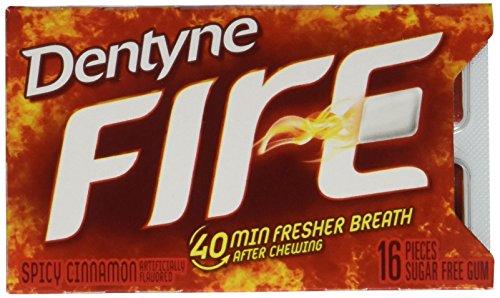Dentyne Fire S/F Cinnamon Gum, Split to Fit, 16 ct, 9 pk (Dentyne Fire Spicy Cinnamon)