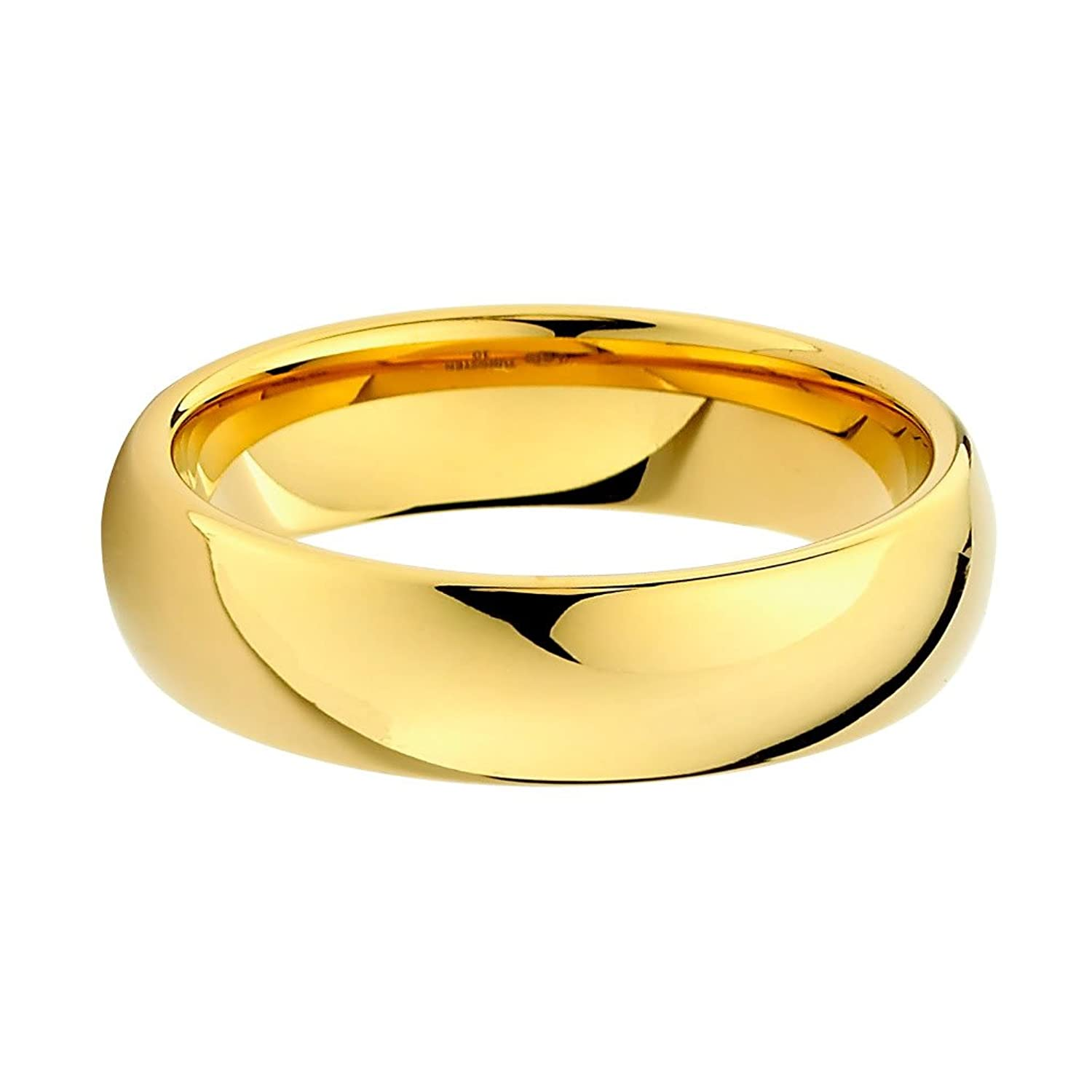 Amazon 6mm Gold Tone Men s Tungsten Wedding Band Jewelry