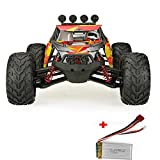 Remote Control Car, DAZHONG Land & Water 1:12 Scale RTR IP4 / Waterproof Electronics High Speed Off-Road Racing Truck with 2.4G 4WD Super Big Tire 7.4V 1500mAh Rechargeable Battery