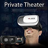 TechTia VR Box Google Cardboard 3D VR Virtual Reality Headset Video Movie Game Glasses For iPhone, Android - 6 months Warranty