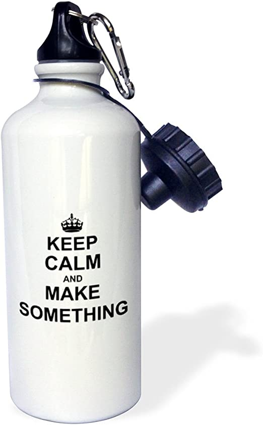 21 oz White 3dRose wb/_157717/_1Keep Calm and Farm on-carry on farming-gift for farmers-Green motivational motivating calming Sports Water Bottle