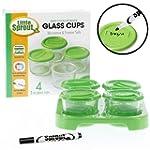 Glass Baby Food Jars (4 - 2oz) - Micr...