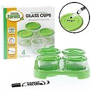 Glass Baby Food Jars 4pk, 2oz - Microwavable, Freezer & Dishwasher Safe