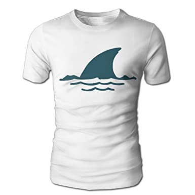 49b311f3a0bc Cute Cartoon Shark Fin Men s Tee Fashion Mens Short-Sleeved T-Shirt Summer  Tops