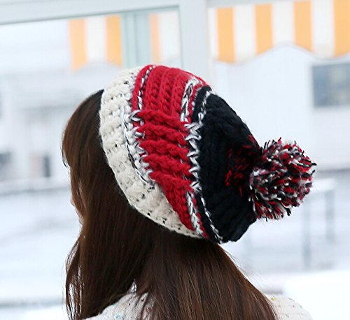 Excellent Crochet Beanies,Dealzip Inc Fashion and Lovely Black Stripe Pattern Women Lady (Cap Knitting Pattern)