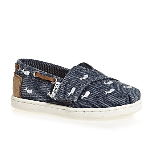 TOMS Kids Unisex Bimini (Infant/Toddler/Little Kid) Embroidered Whale 8 M US Toddler