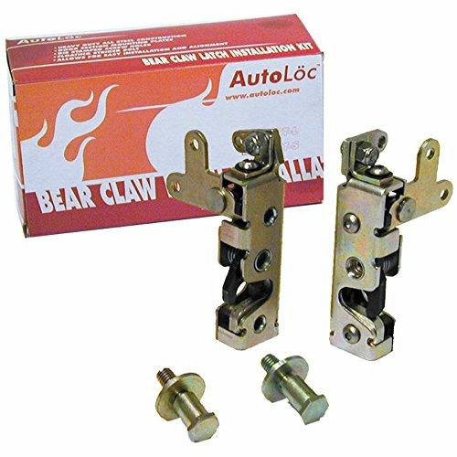 Autoloc AUTBCSM Locking Mini Bear Claw Door Latch Set ()