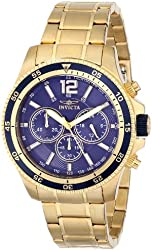 "Invicta Men's INVICTA-13978 ""Specialty"" 18k Gold Ion-Plated Watch"