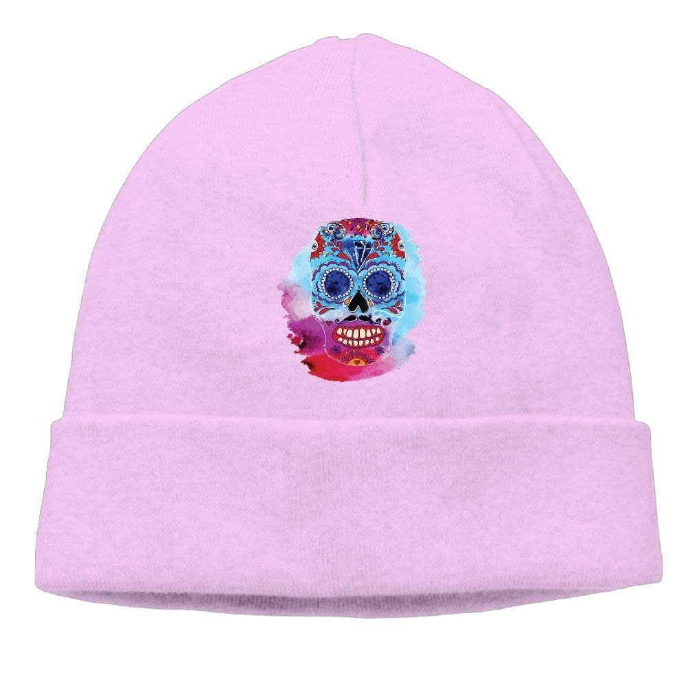 Unisex Color Skull Ink Classic Fashion Daily Beanie Hat Skull Cap