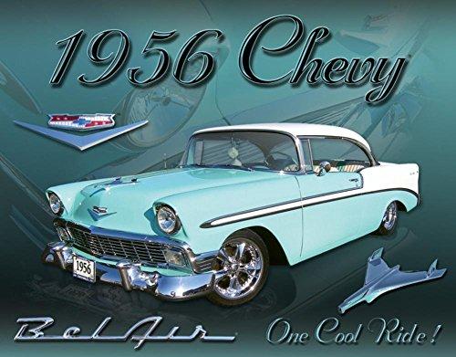 Chevy 1956 Bel Air Tin Sign 16 x 12in (Bel Air Tin Sign)