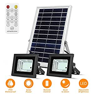 Solar Flood Lights Led Lights Remote Solar Lights Dusk To Dawn Solar Security Light With 6w 800 Lm Dual 42 Leds Ip65 Waterproof Outdoor Solar Lights