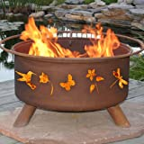 Flower and Garden Fire Pit with Grill and FREE Cover