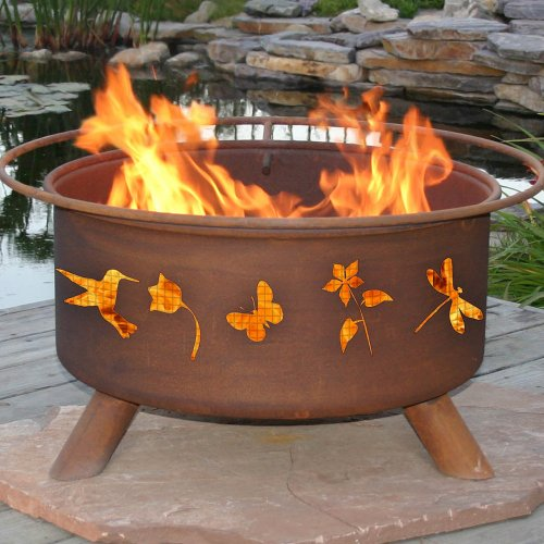 Flower and Garden Fire Pit with Grill and FREE Cover by Patina