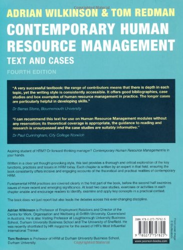 Contemporary human resource management text and cases amazon contemporary human resource management text and cases amazon prof tom redman prof adrian wilkinson 9780273757825 books fandeluxe Choice Image