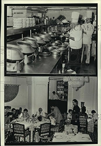 Vintage Photos 1990 Press Photo The kitchen and dining room of the Maurya Sheraton Hotel, India